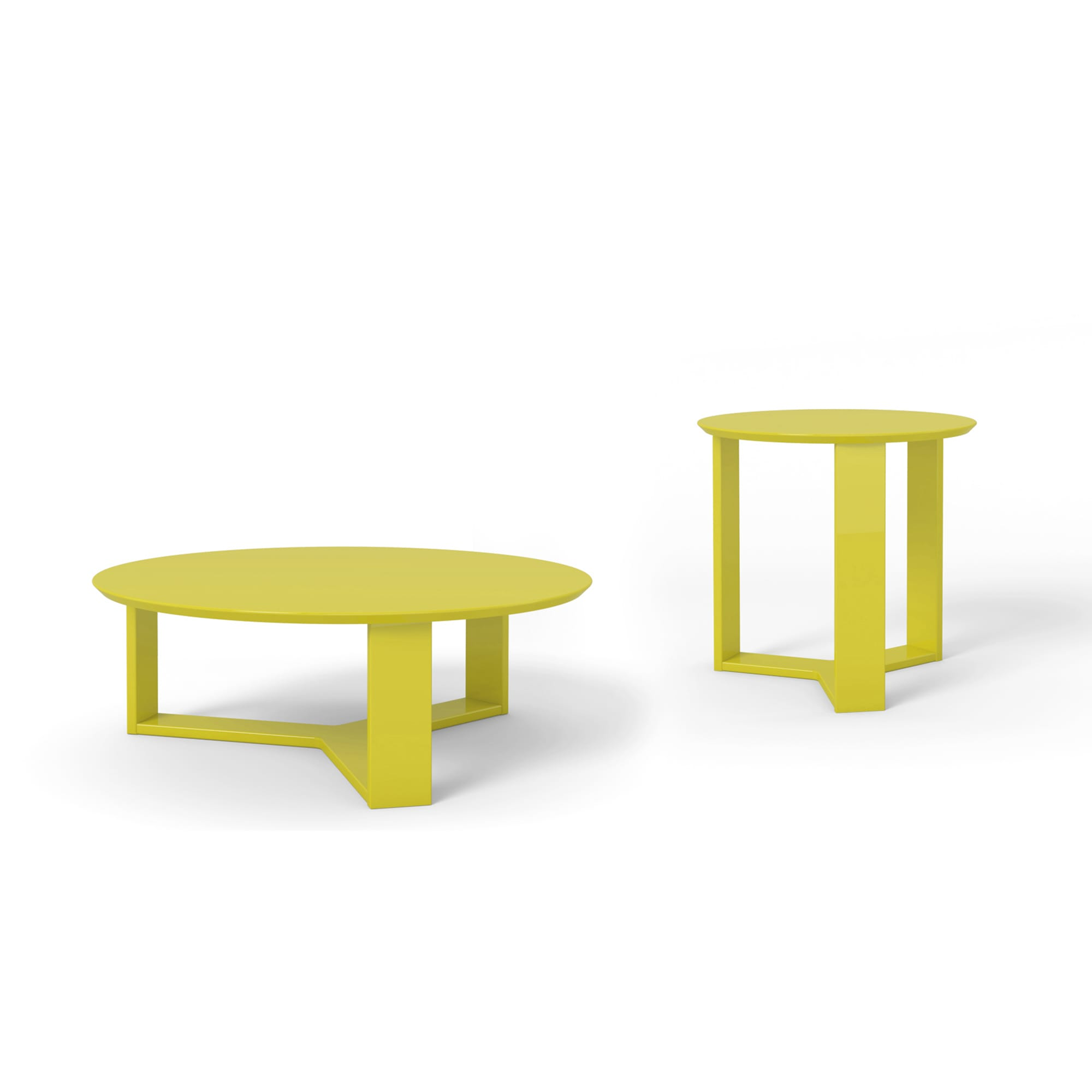Madison Lime Gloss 2 Piece Accent Table Living Room Set By Manhattan Comfort