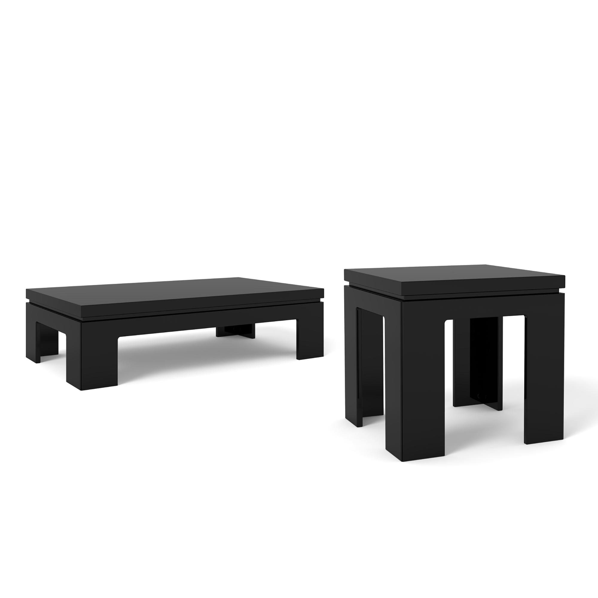 Manhattan Comfort Bridge  Piece Accent Table Living Room Set