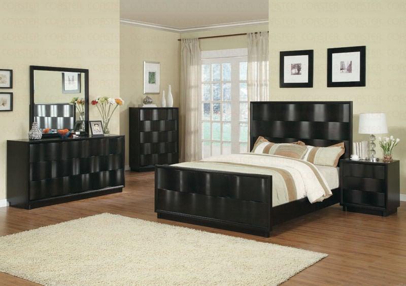 wave bedroom set by coaster. Black Bedroom Furniture Sets. Home Design Ideas