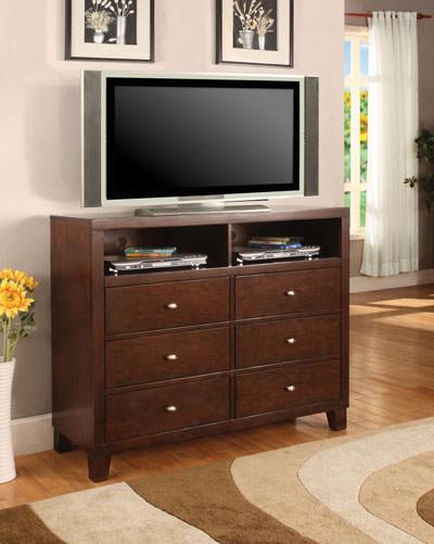 Ashleys Furniture on Lorretta Tv Dresser Cappuccino Finish  Coaster Fine Furniture