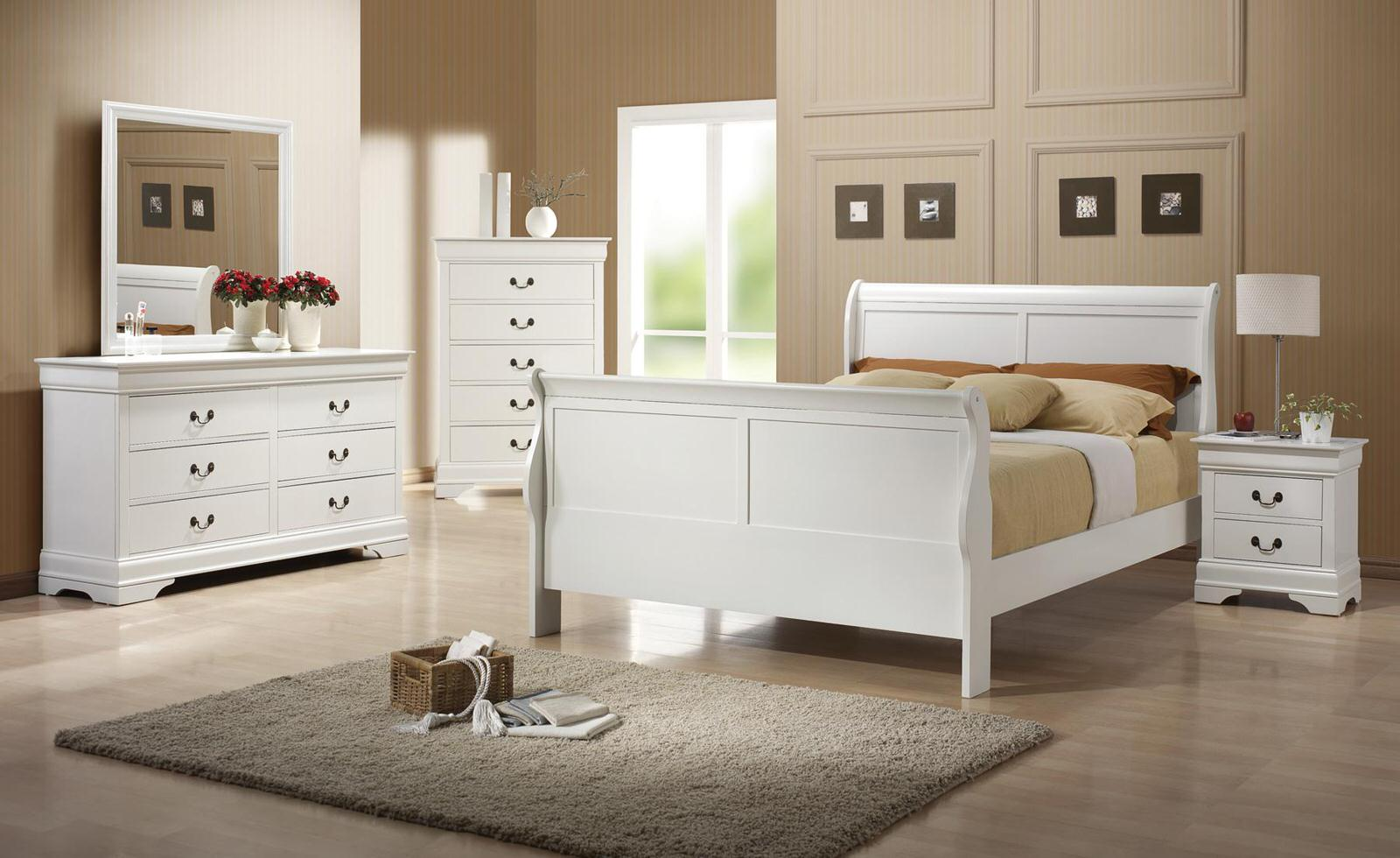 Charming Louis Philippe White Bedroom Set
