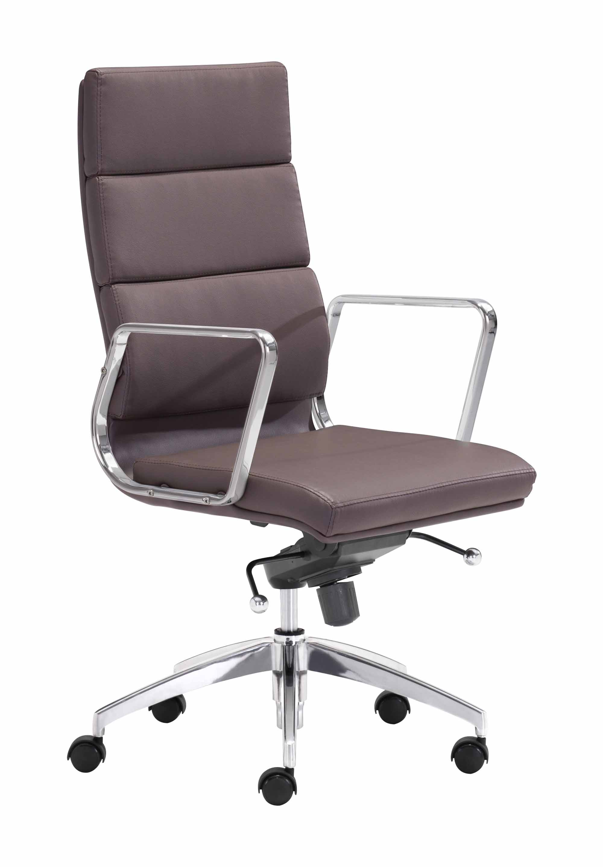 sc 1 st  Futonland & Engineer High Back Office Chair Espresso by Zuo Modern