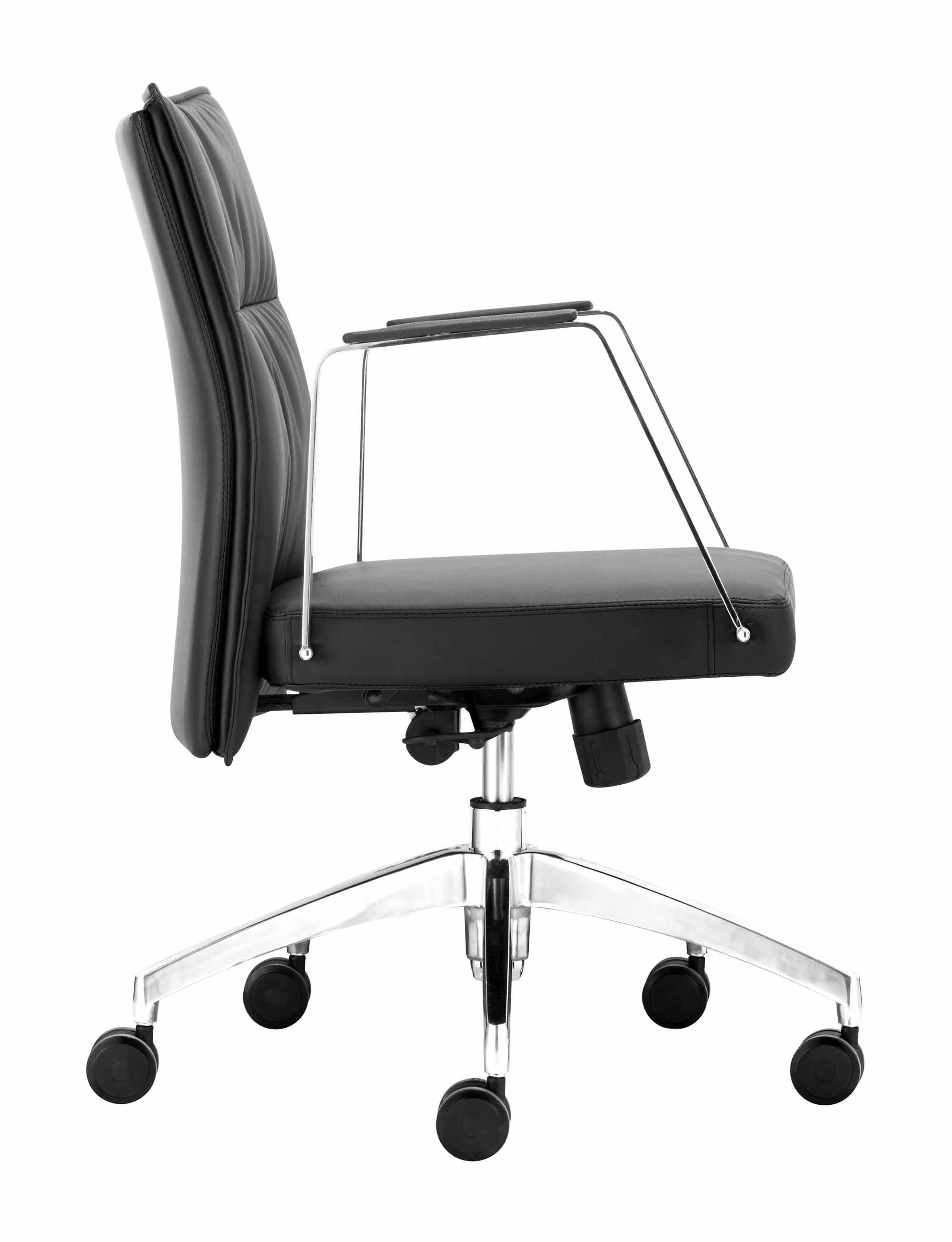 Dean Low Back fice Chair Black by Zuo Modern