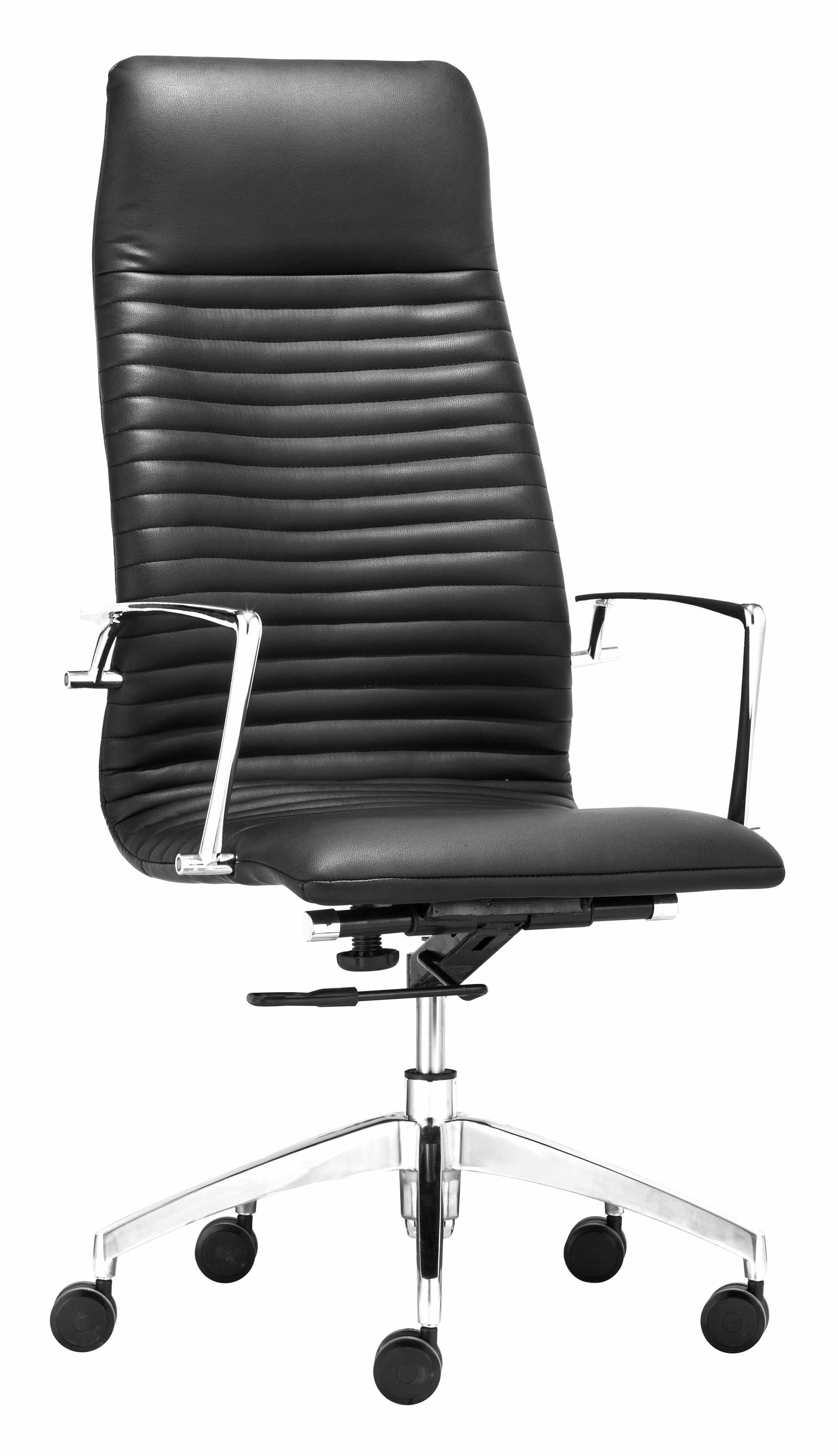 sc 1 st  Futonland & Lion High Back Office Chair Black by Zuo Modern