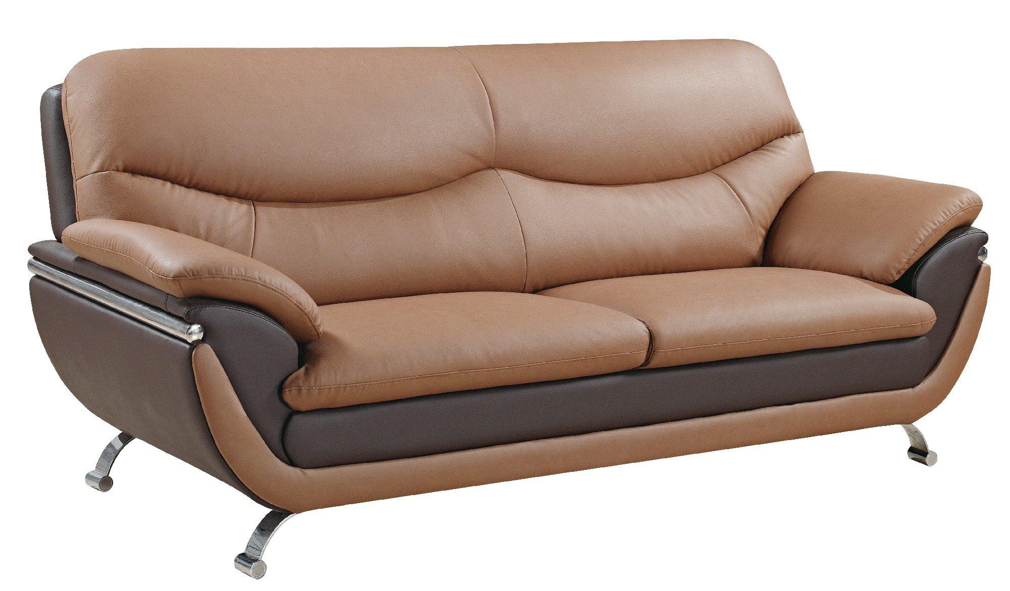u2106 brown bonded sofa by global furniture On global furniture