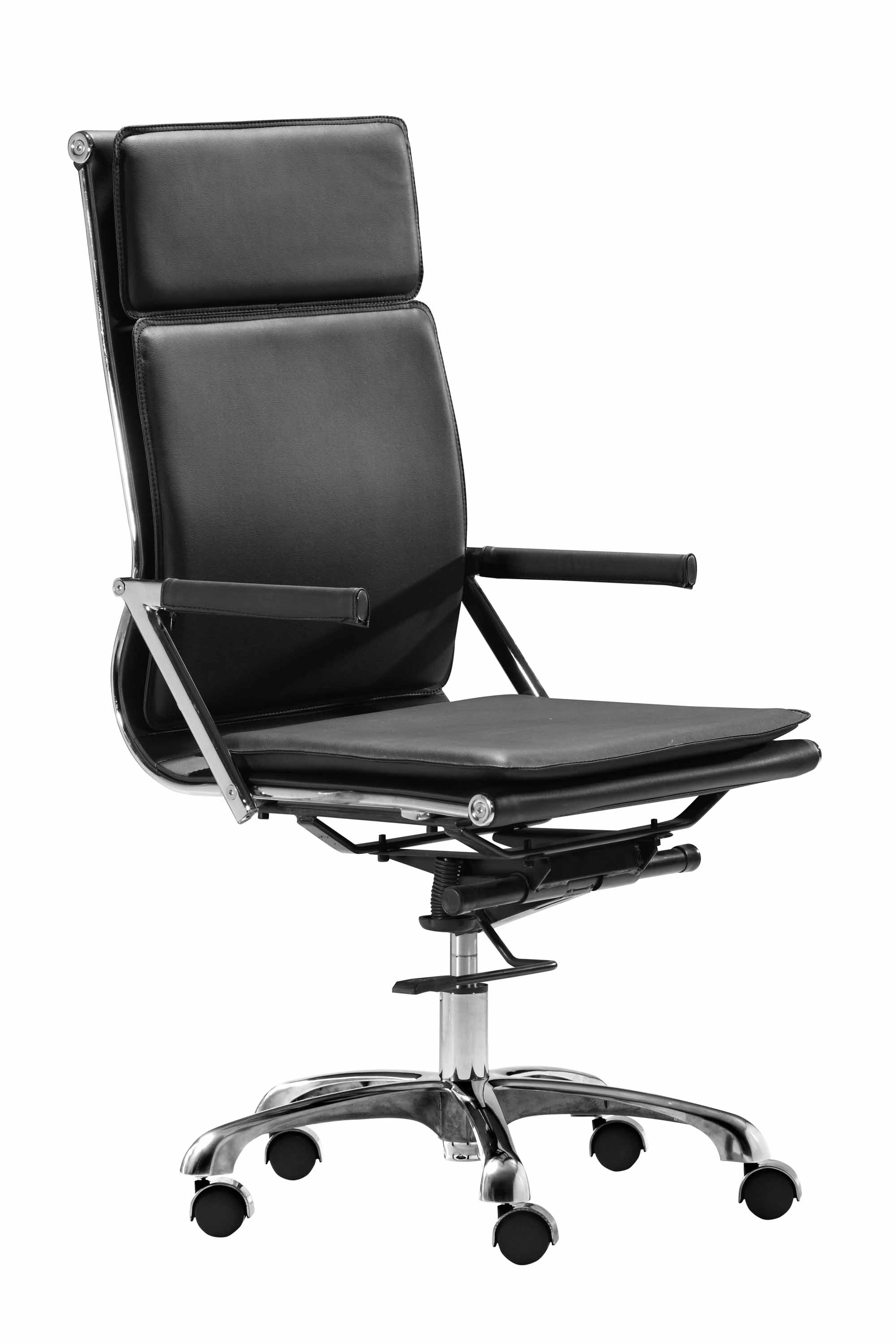 Lider Plus Hi Back Office Chair Black by Zuo Modern