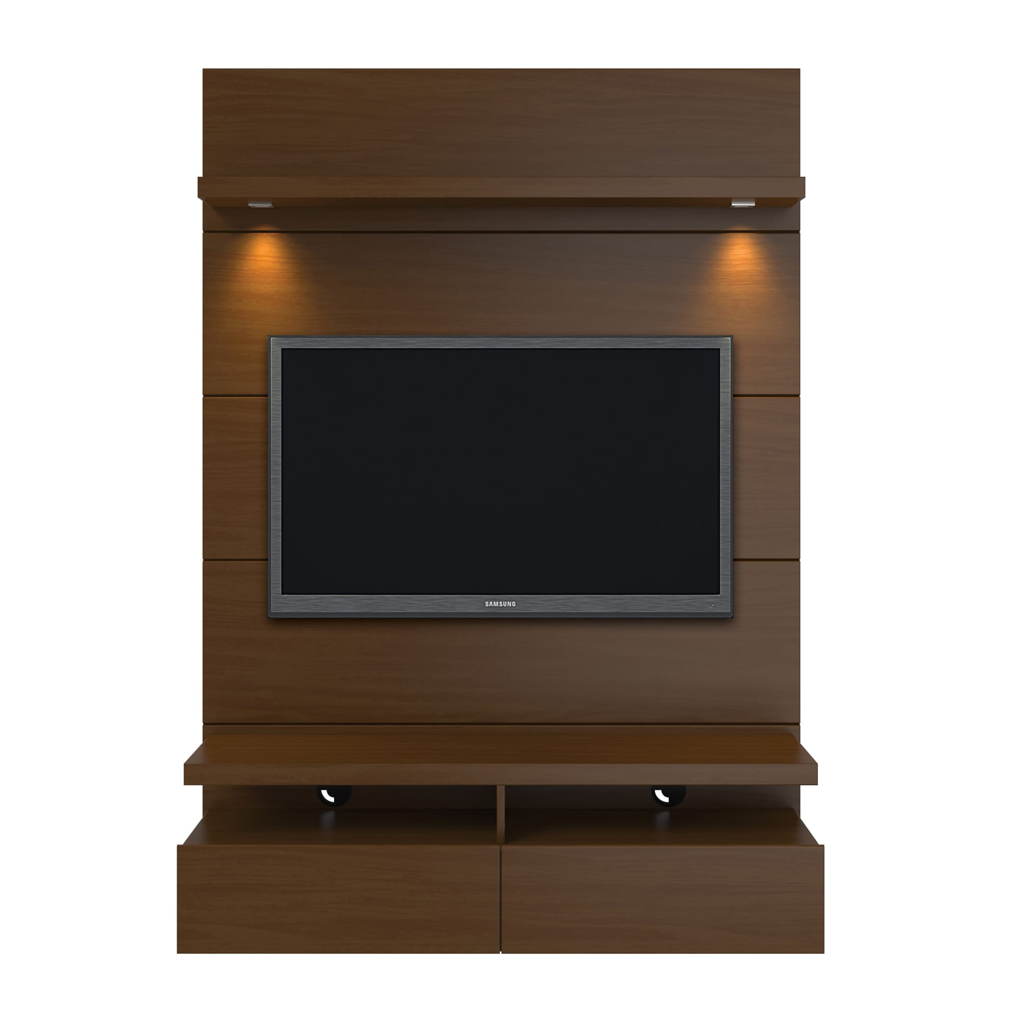 Cabrini Nut Brown 1 2 Floating Wall Theater Entertainment