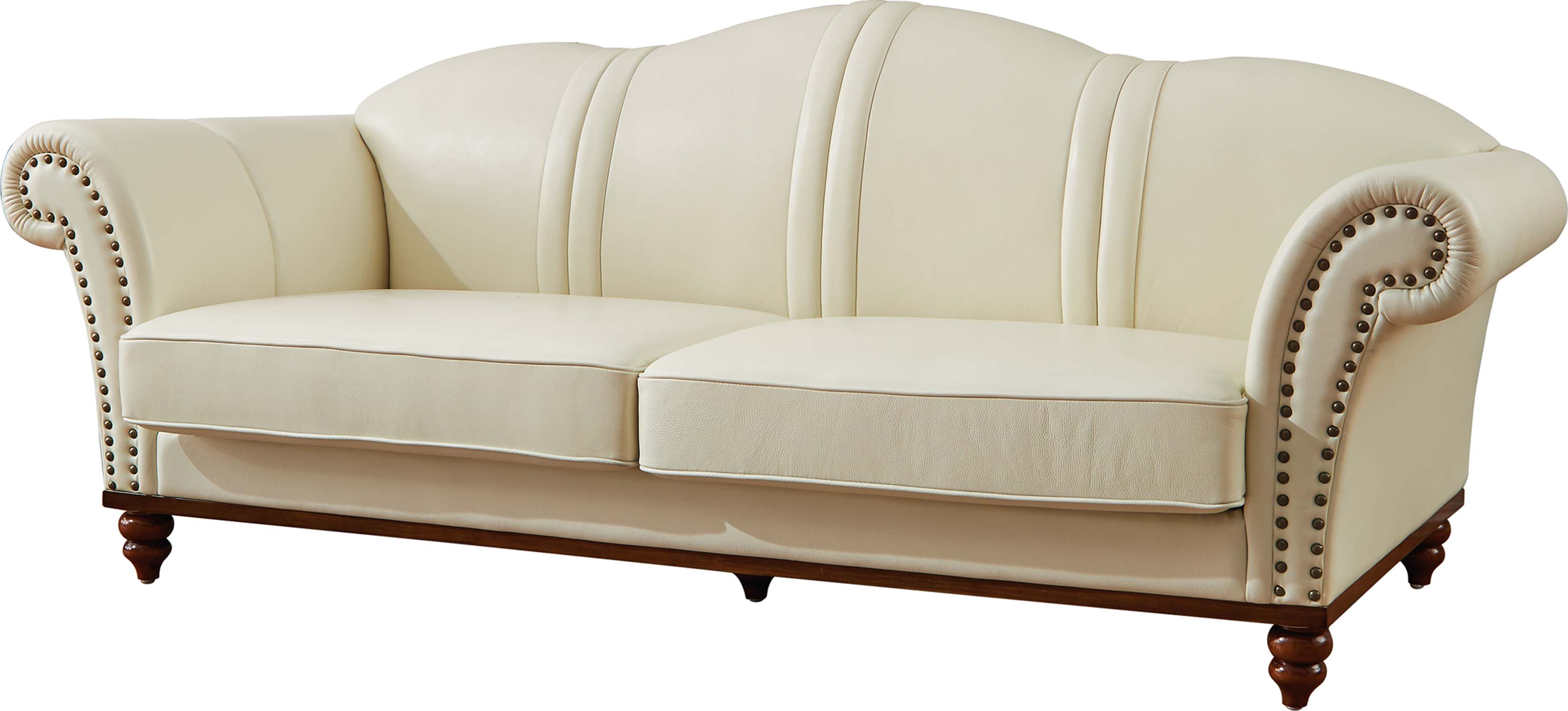 Ivory Leather Sofas American Eagle Ae606 Iv Modern 2pcs