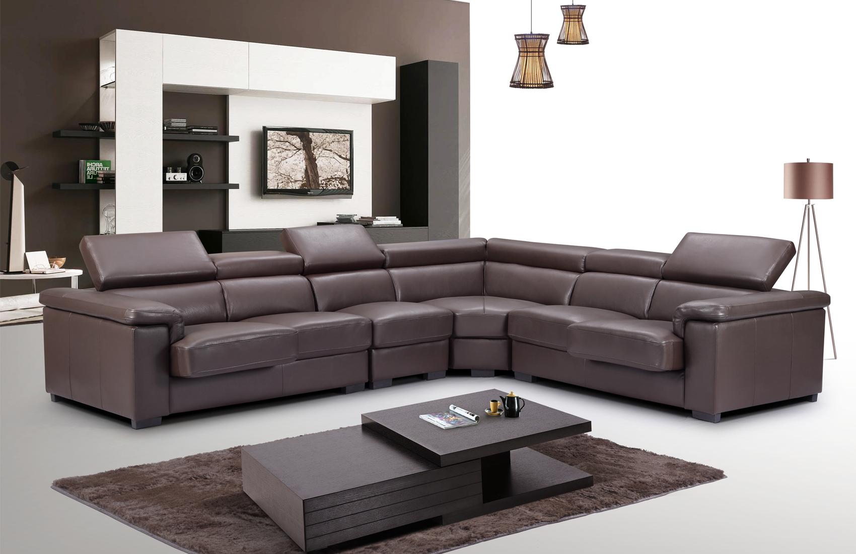 Fabulous 2605 Sectional W Sliding Seats By Esf Creativecarmelina Interior Chair Design Creativecarmelinacom