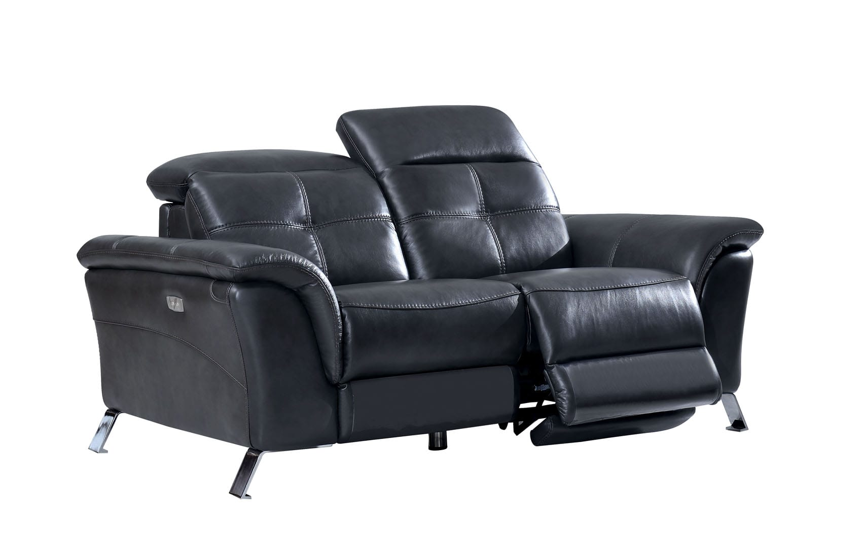 Pleasing 2619 Gray Leather Loveseat W 2 Electric Recliners By Esf Bralicious Painted Fabric Chair Ideas Braliciousco