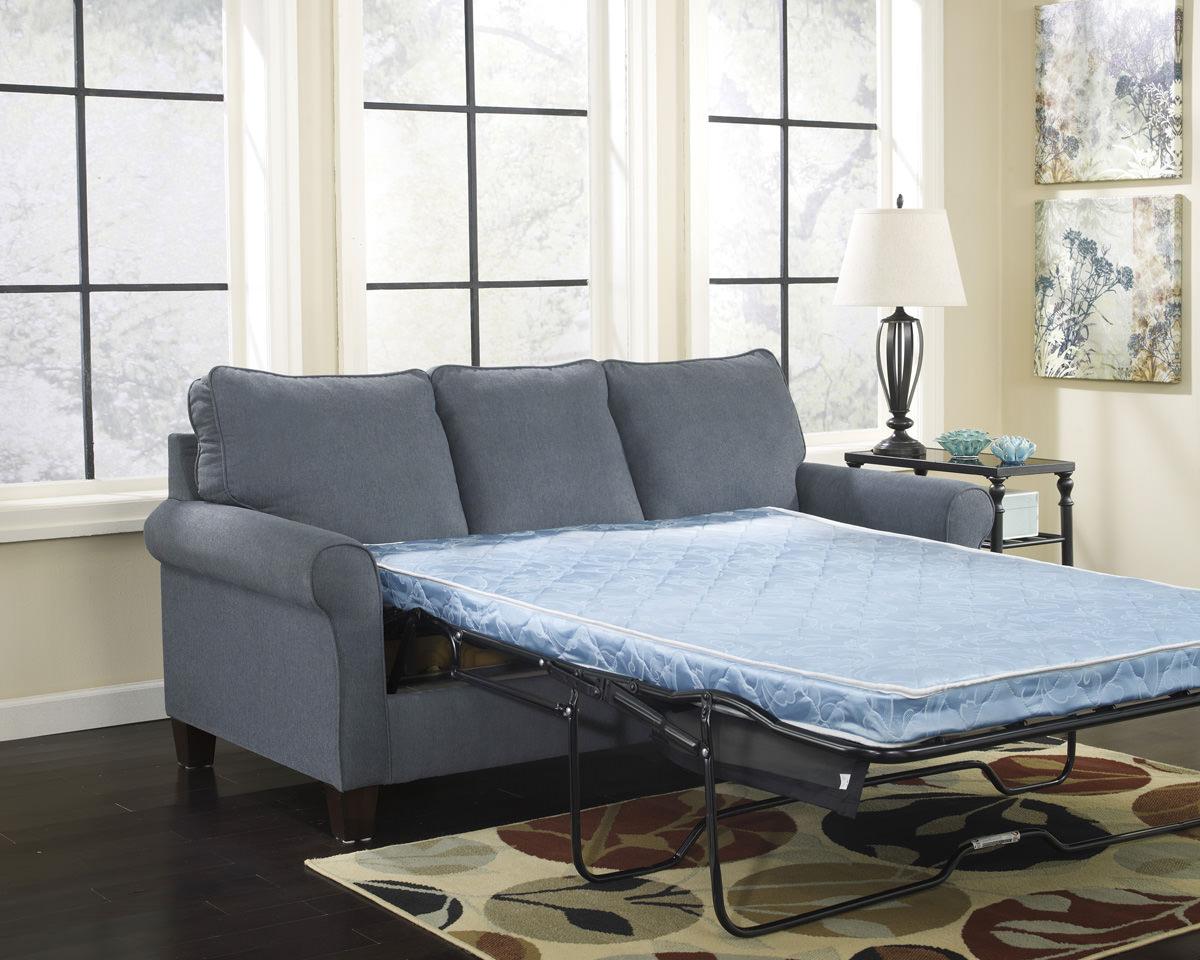 Strange Zeth Denim Full Sofa Sleeper Signature Design By Ashley Furniture Download Free Architecture Designs Viewormadebymaigaardcom