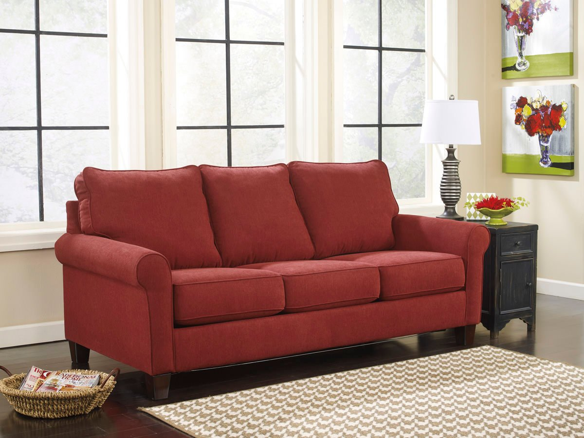 Zeth Crimson Queen Sofa Sleeper Signature Design By Ashley Furniture