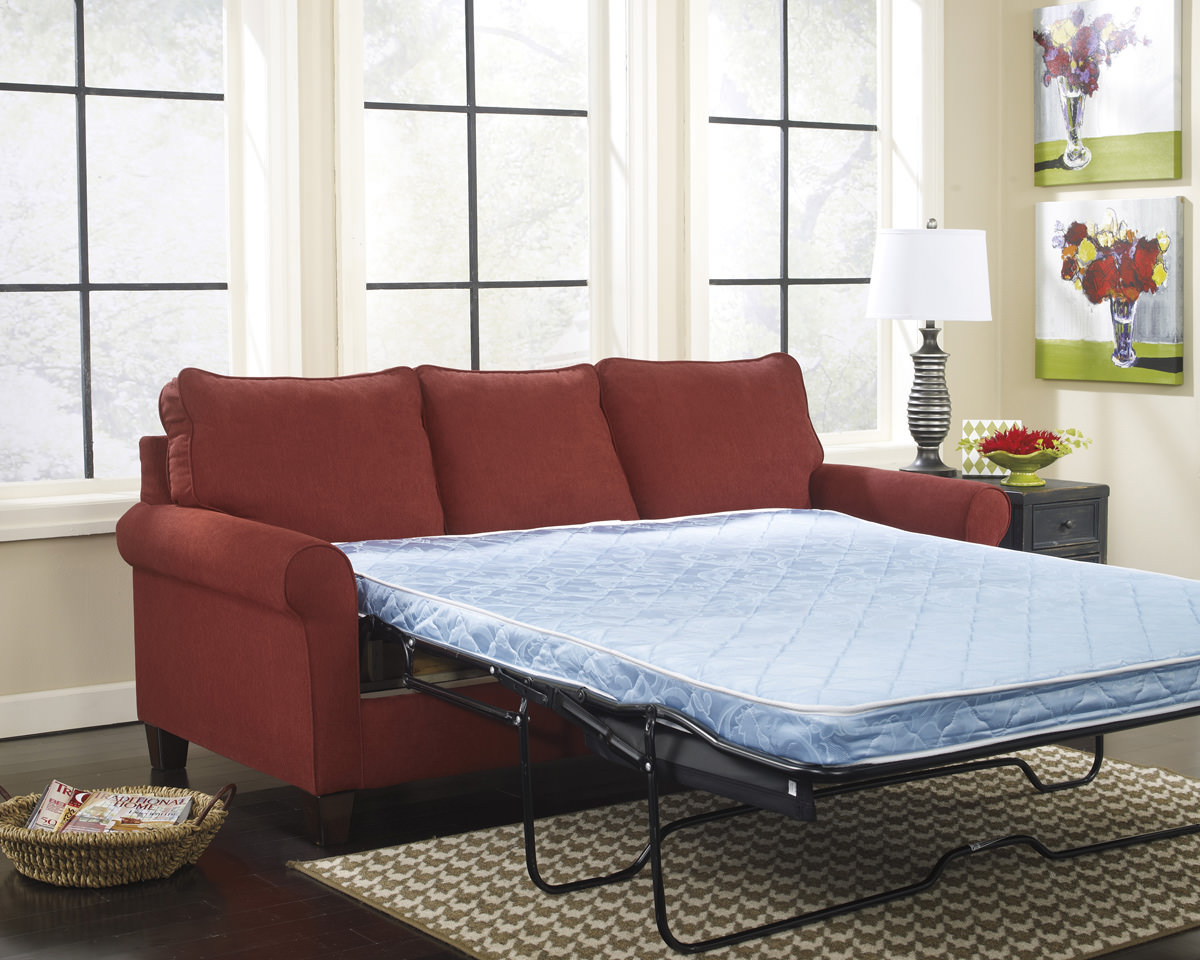 Zeth Crimson Queen Sofa Sleeper Signature Design By Ashley Furniture