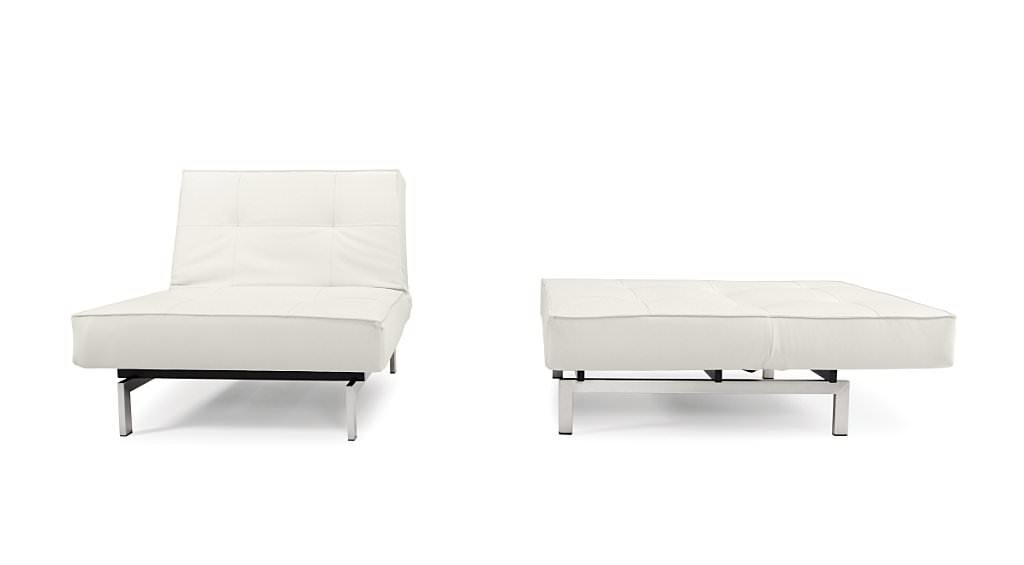 Floor Sample Splitback Deluxe Chair White Leather Textile By Innovation