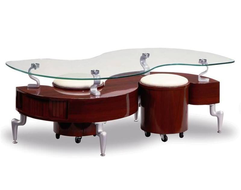 Coffee Table 288 Mahogany W Beige By Global Furniture