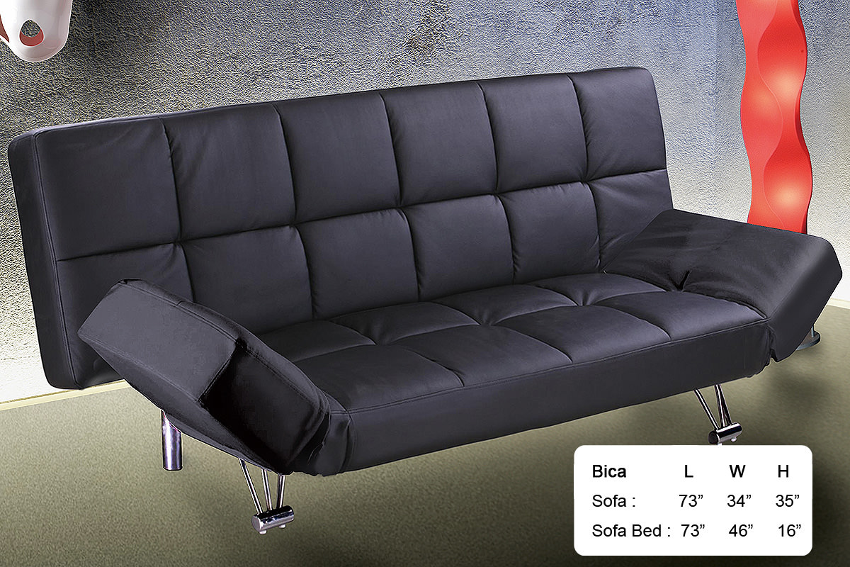 . Bica Black Sofa Bed by At Home USA