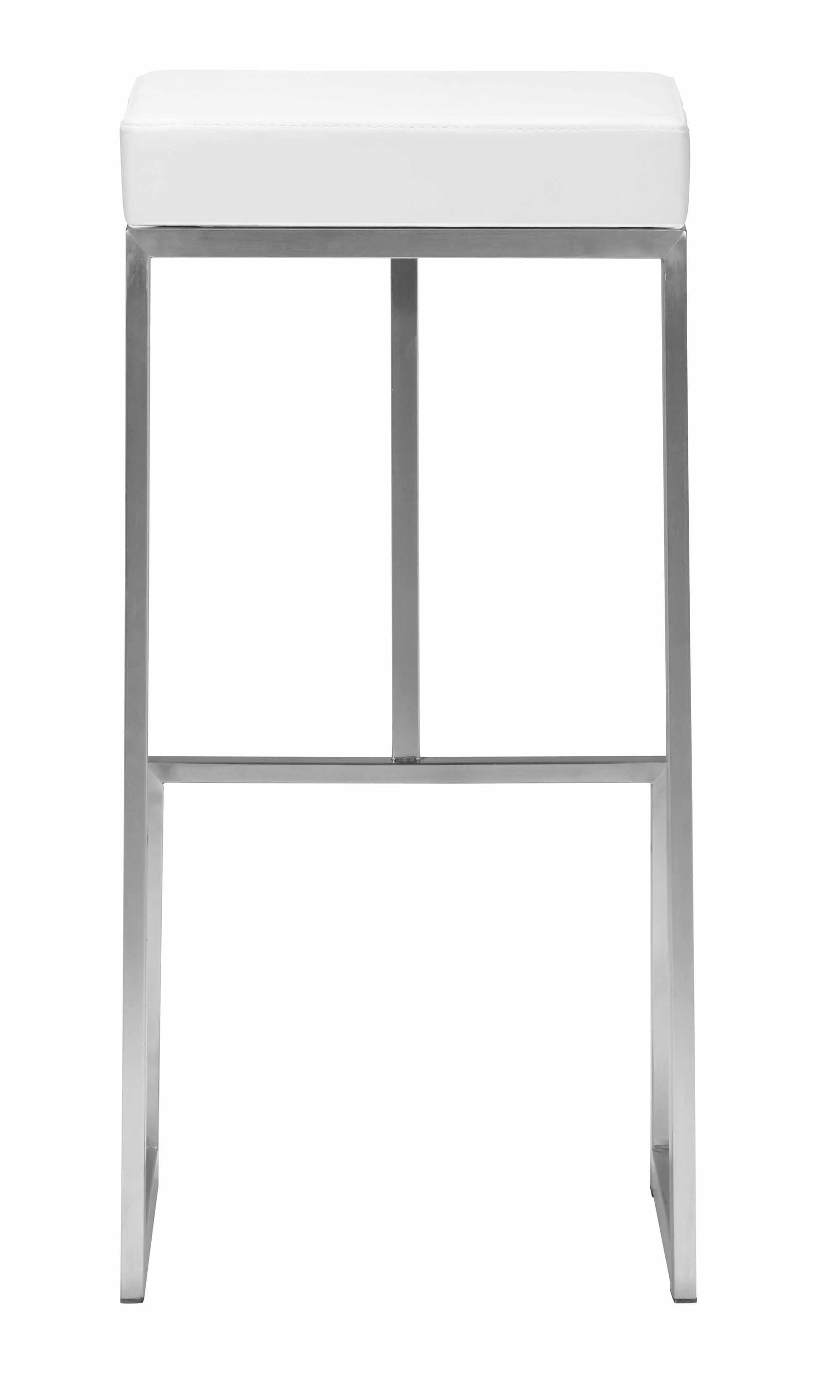 Darwen Barstool White Set Of 2 By Zuo Modern