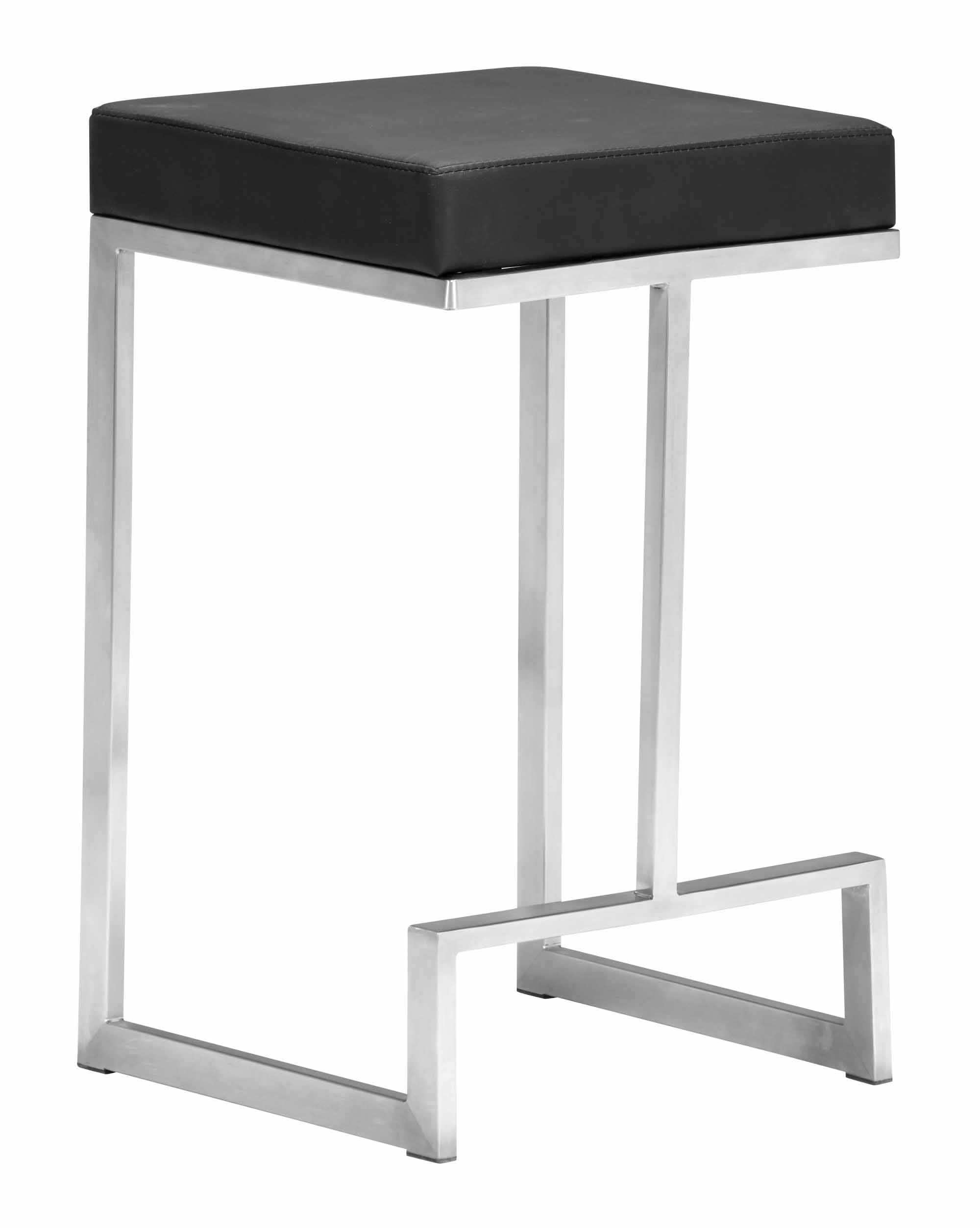 Darwen Counter Stool Black Set Of 2 By Zuo Modern