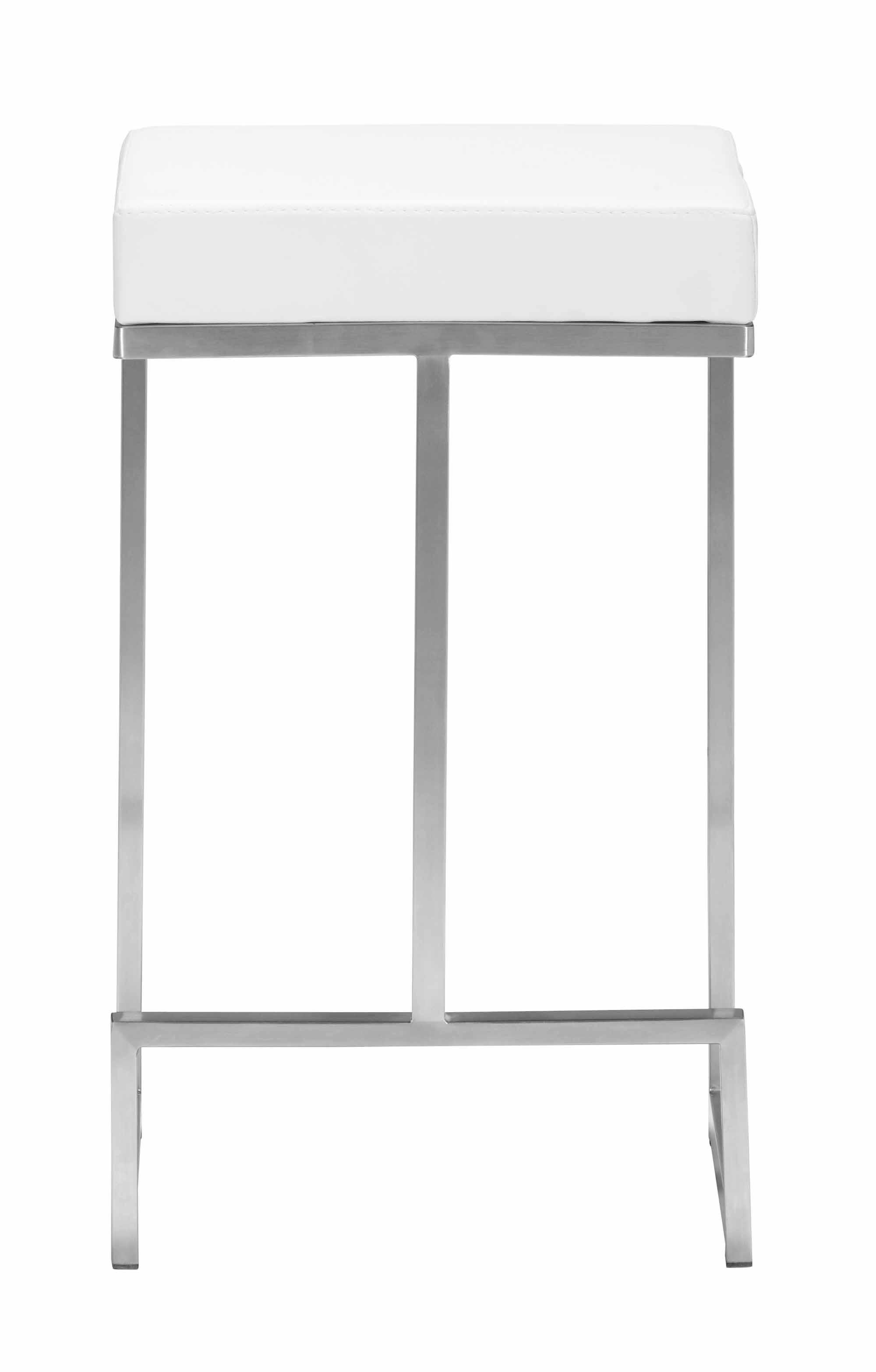 Darwen Counter Stool White Set Of 2 By Zuo Modern
