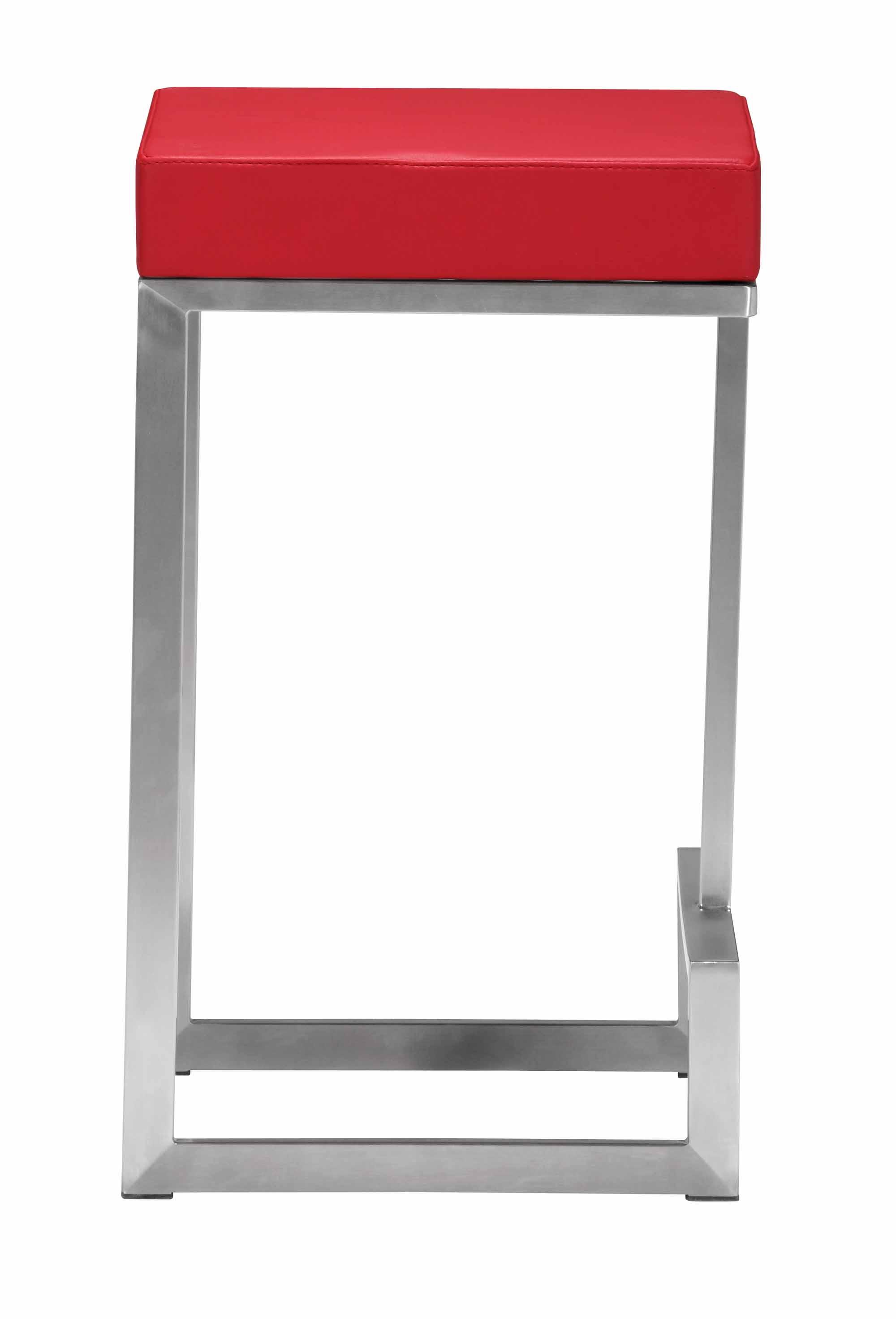 Darwen Counter Stool Red Set Of 2 By Zuo Modern