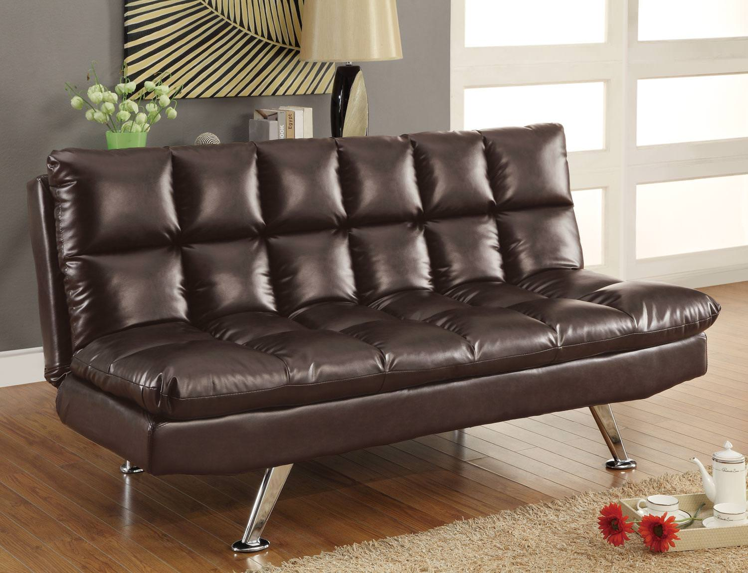 sofa bed brown by coaster