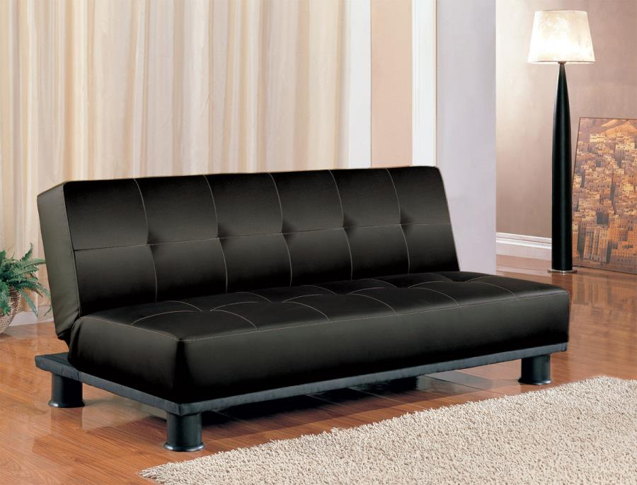 Amazing 300163 Black Vinyl Foam Sofa Bed By Coaster Gmtry Best Dining Table And Chair Ideas Images Gmtryco