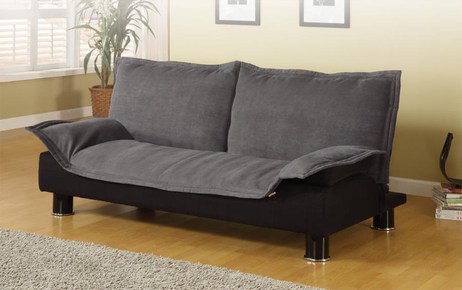 300177 Gray Microfiber Sofa Bed