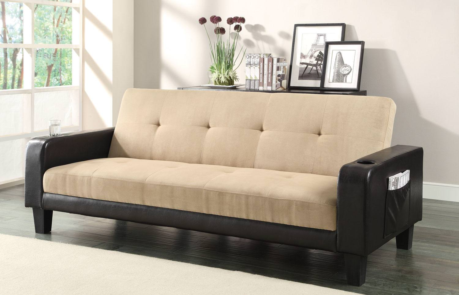 300295 sofa bed khaki by coaster for Sofa bed name