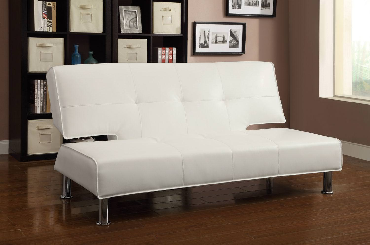 Pleasant 300296 Sofa Bed White By Coaster Machost Co Dining Chair Design Ideas Machostcouk