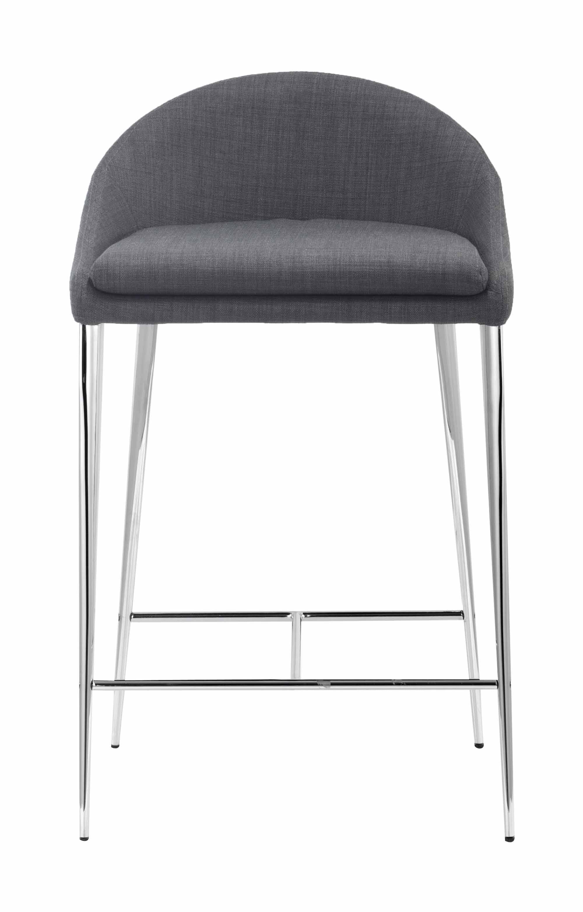 Reykjavik Counter Chair Graphite Set Of 2 By Zuo Modern
