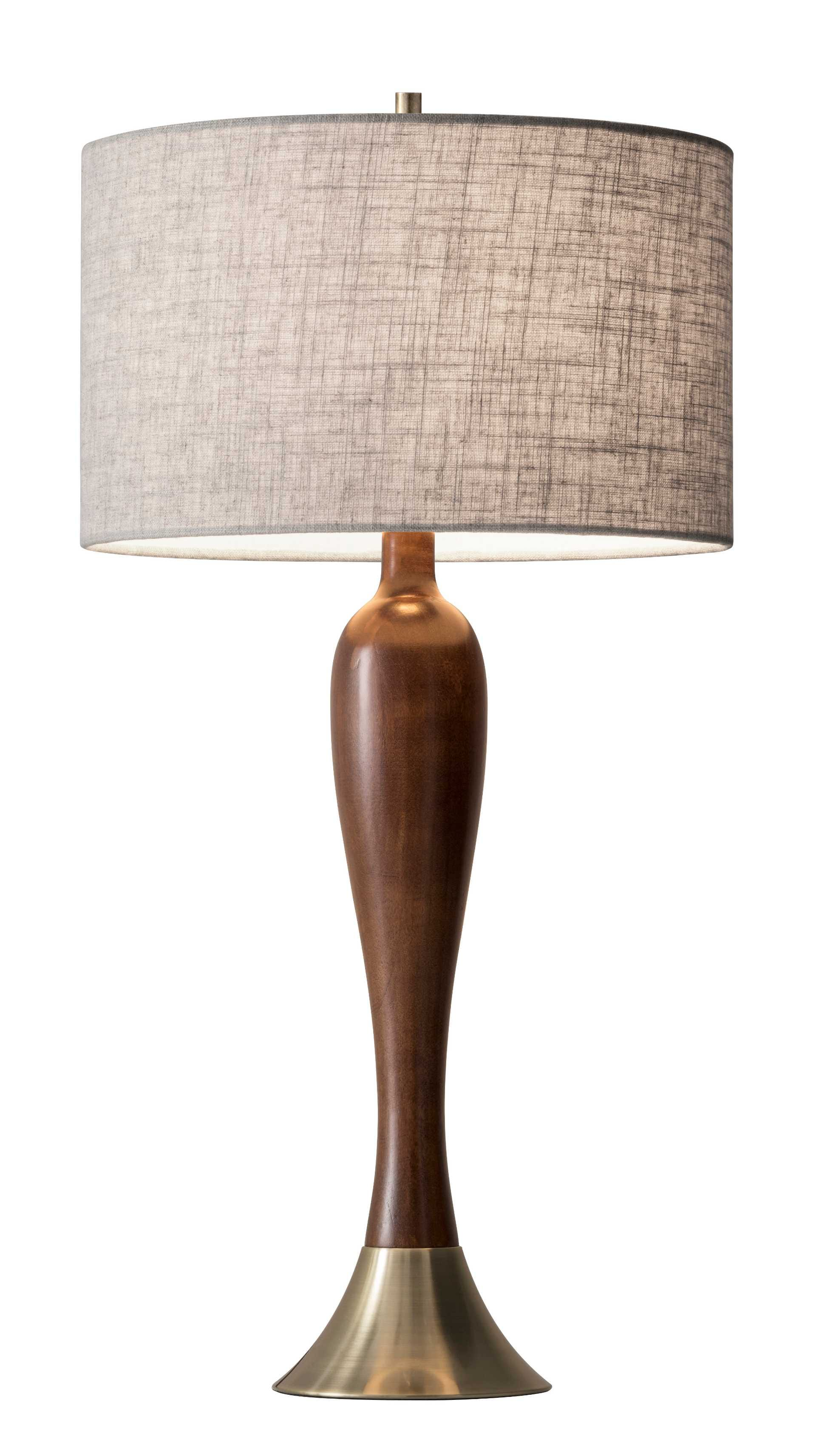 Incroyable Claudia Table Lamp (Walnut). By Adesso Furniture ...