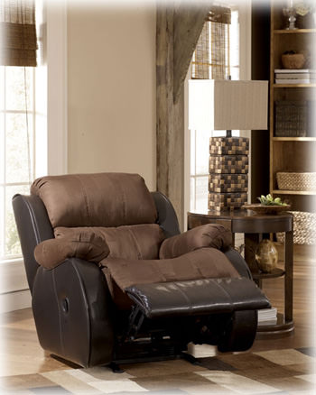 Presley Espresso Rocker Recliner Signature Design By Ashley Furniture