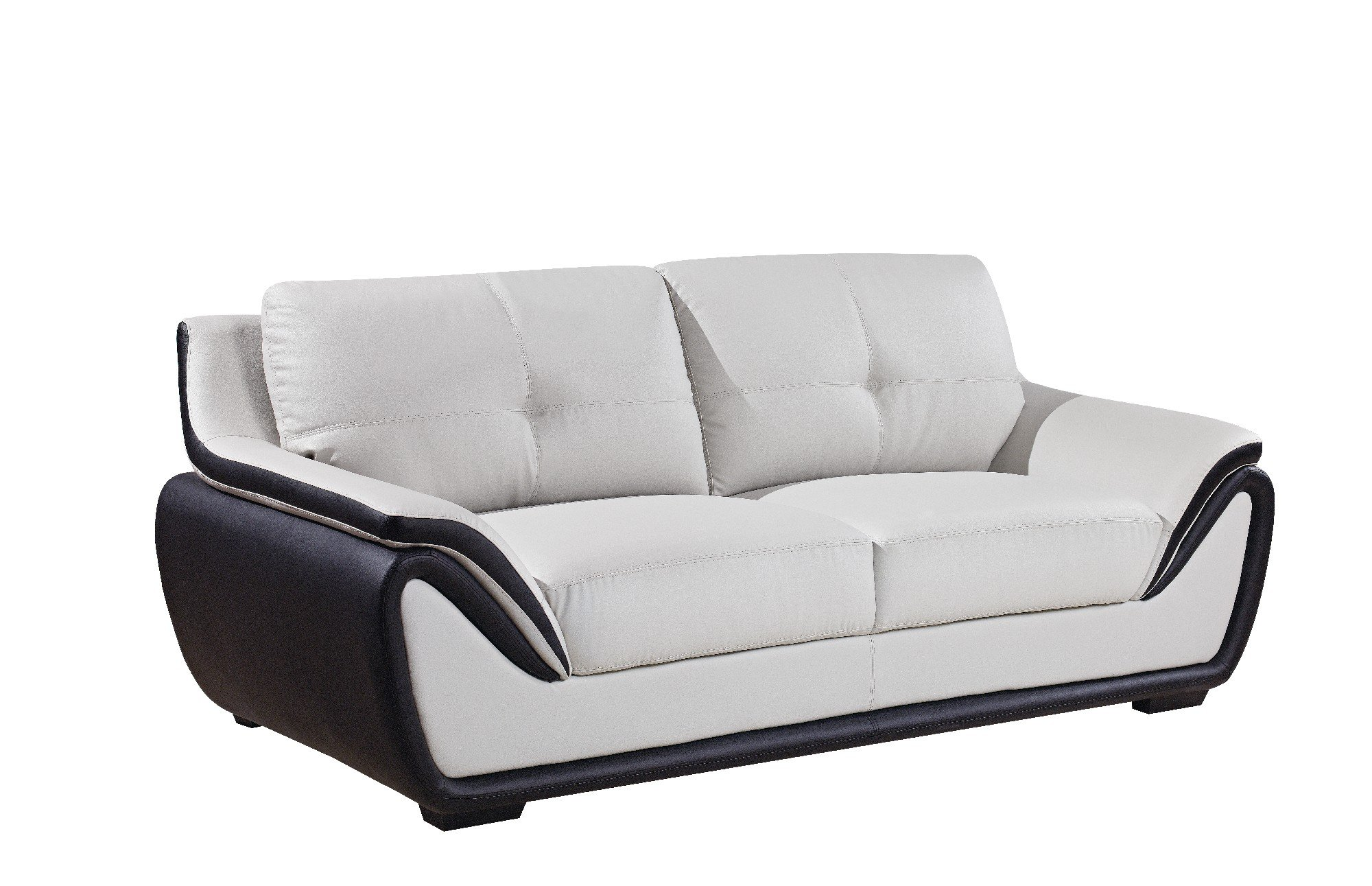 u3250 light grey black sofa by global furniture. Black Bedroom Furniture Sets. Home Design Ideas