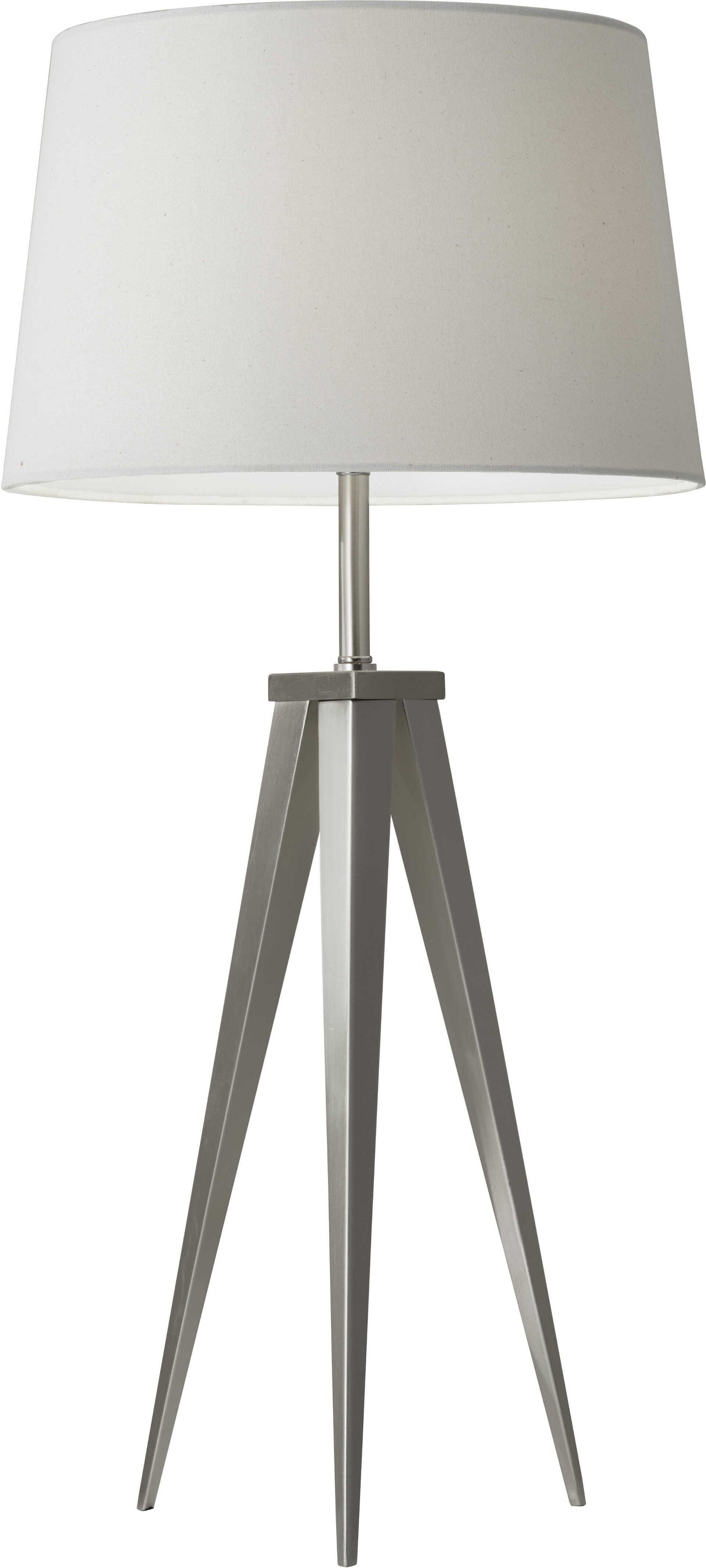 Bon Producer Table Lamp (Brushed Steel). By Adesso Furniture ...