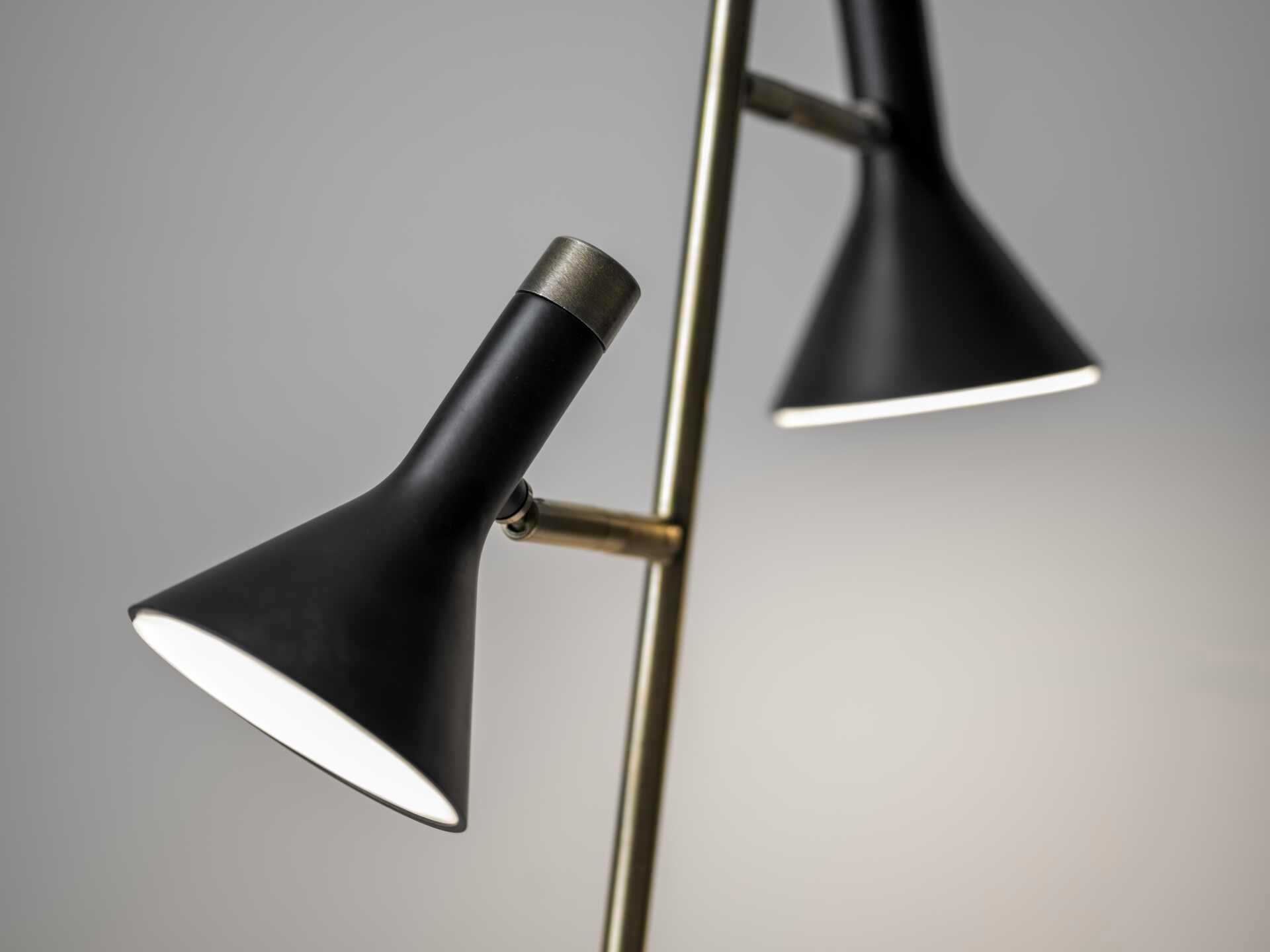 Bennett LED Desk Lamp (Brass/Black) by Adesso Furniture