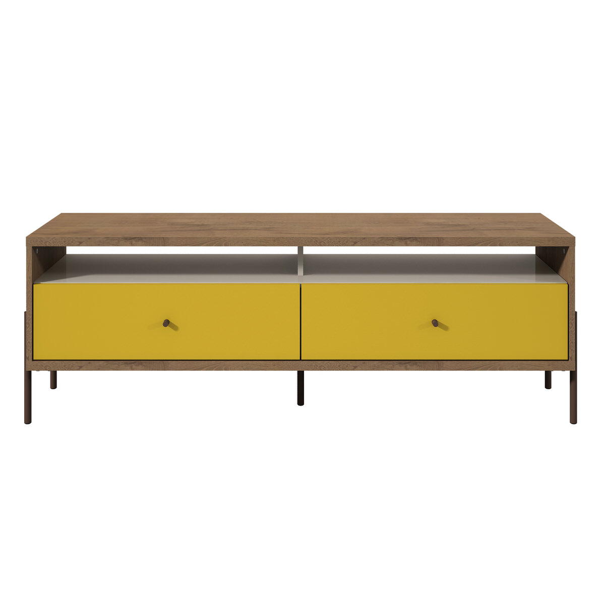 various colors b550c 11f75 Joy 59 Inch Yellow TV Stand w/ 2 Full Extension Drawers by Manhattan Comfort