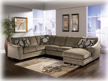 Amazing Cosmo Marble Sectional Sofa Signature Design By Ashley Furniture Onthecornerstone Fun Painted Chair Ideas Images Onthecornerstoneorg