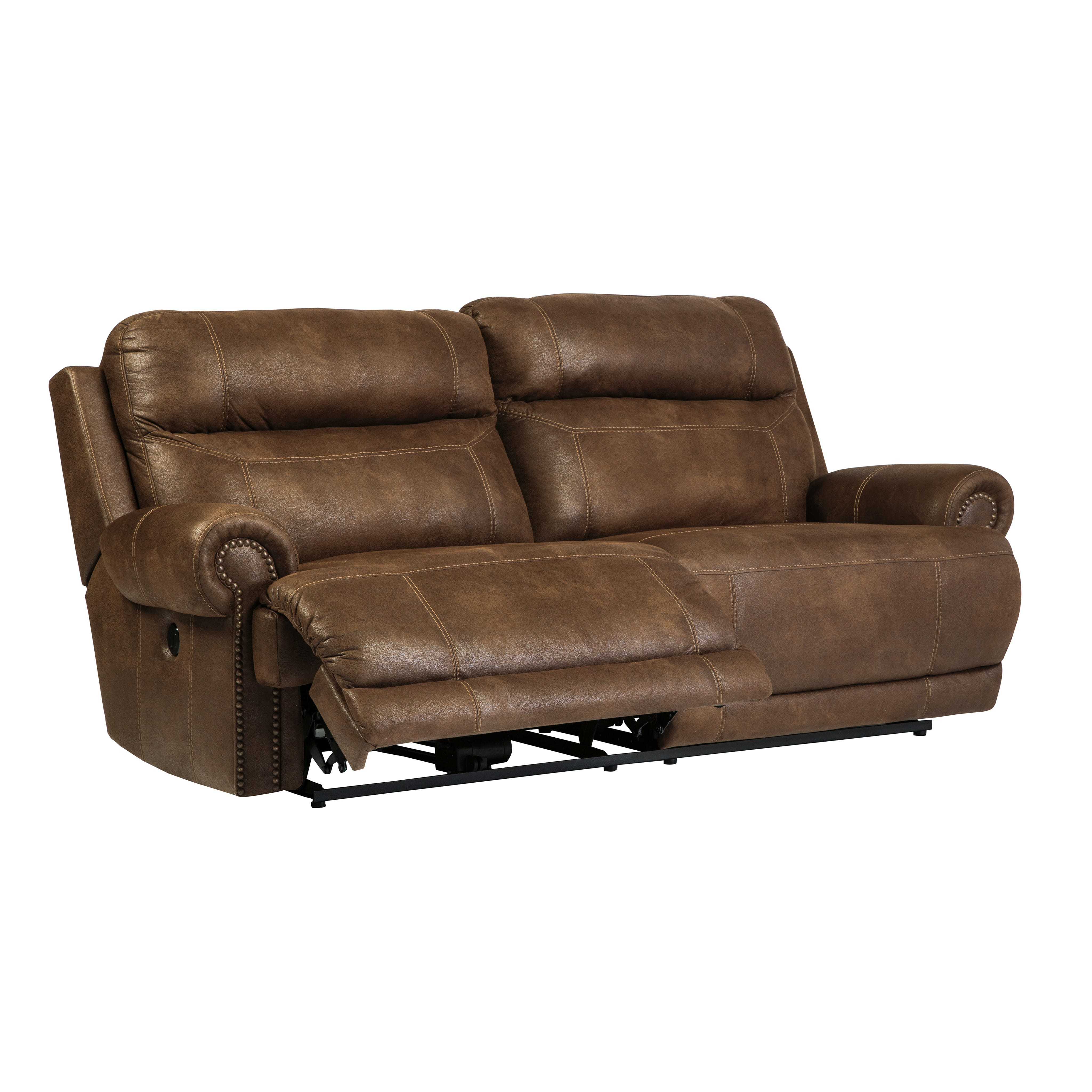Floor Sample Austere 2 Seat Brown Reclining Sofa By Ashley