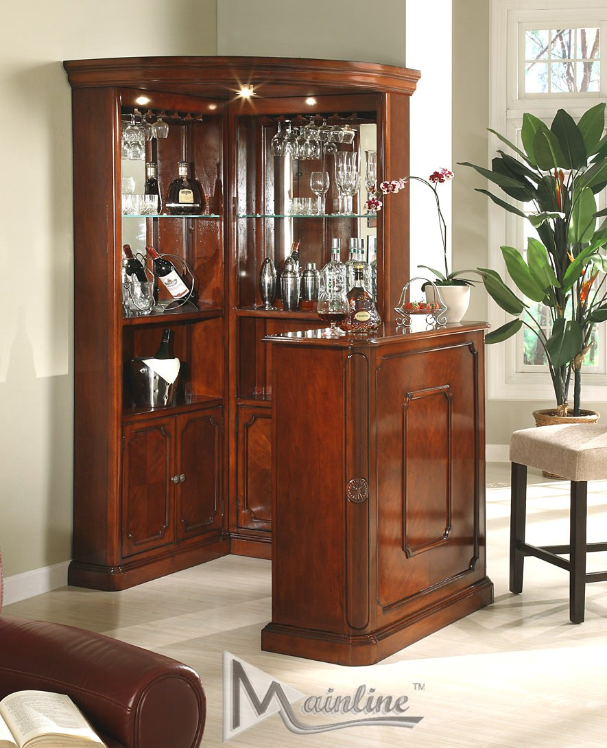 Yorkshire 3 Pcs Corner Wine Cabinet By Mainline