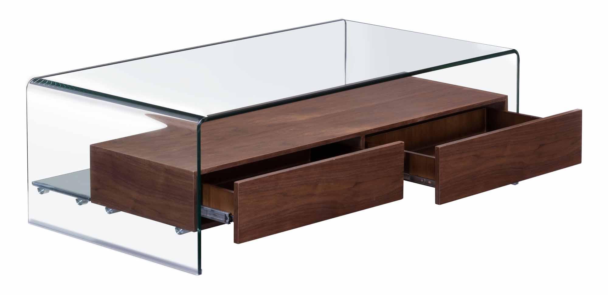 Shaman Coffee Table Walnut by Zuo Modern