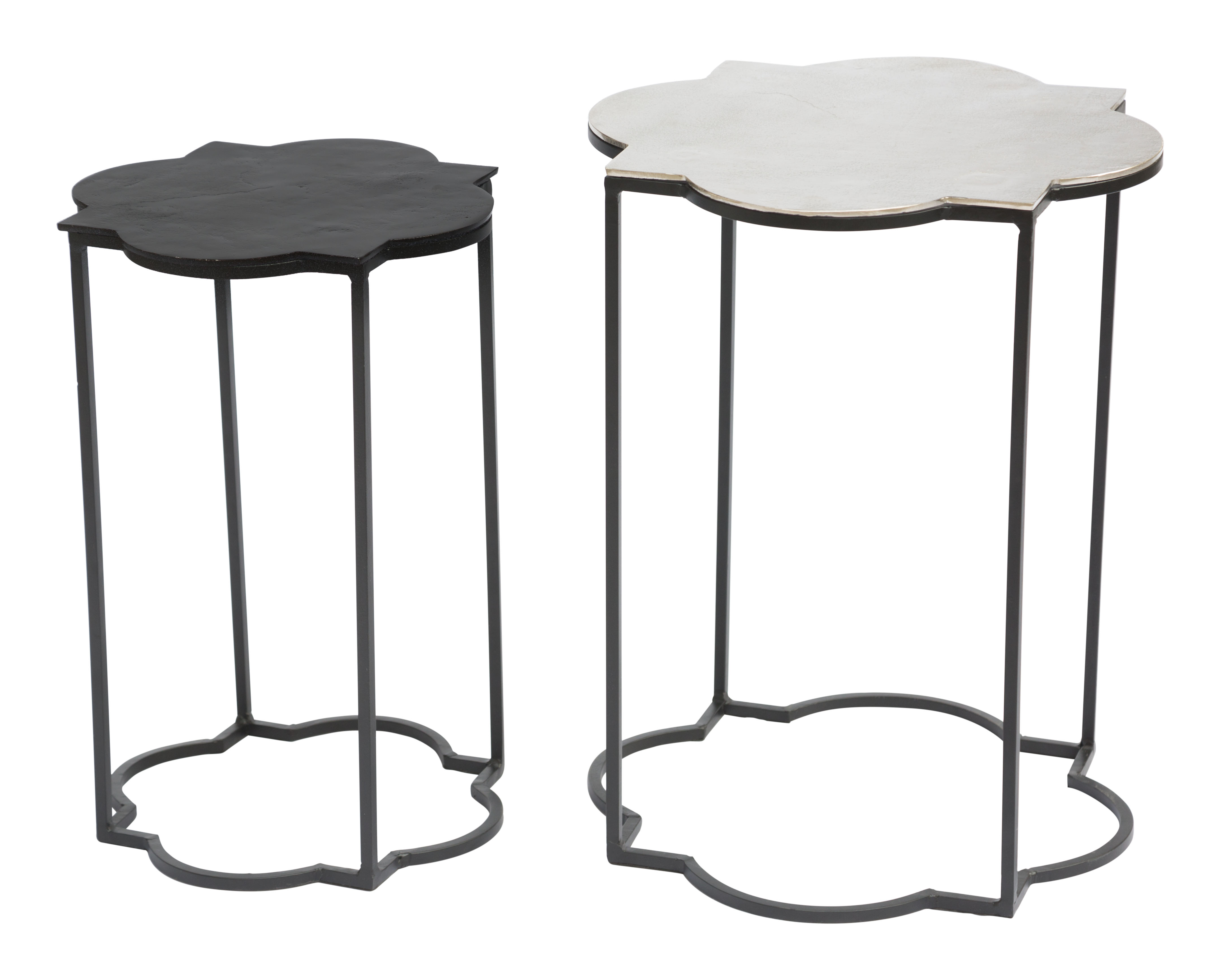Brighton Accent Table Black White By Zuo Modern