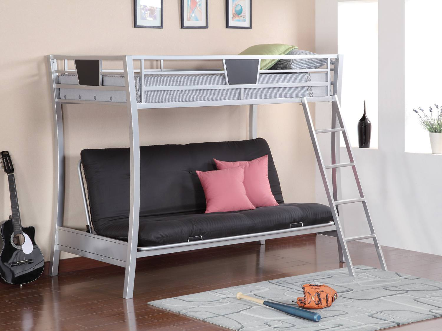 Incredible 460024 Twin Full Futon Metal Bunk Bed By Coaster Ibusinesslaw Wood Chair Design Ideas Ibusinesslaworg