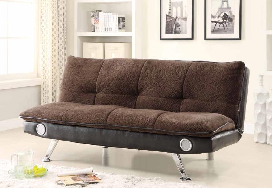 500047 Contemporary Style Dark Brown Sofa Bed by Coaster