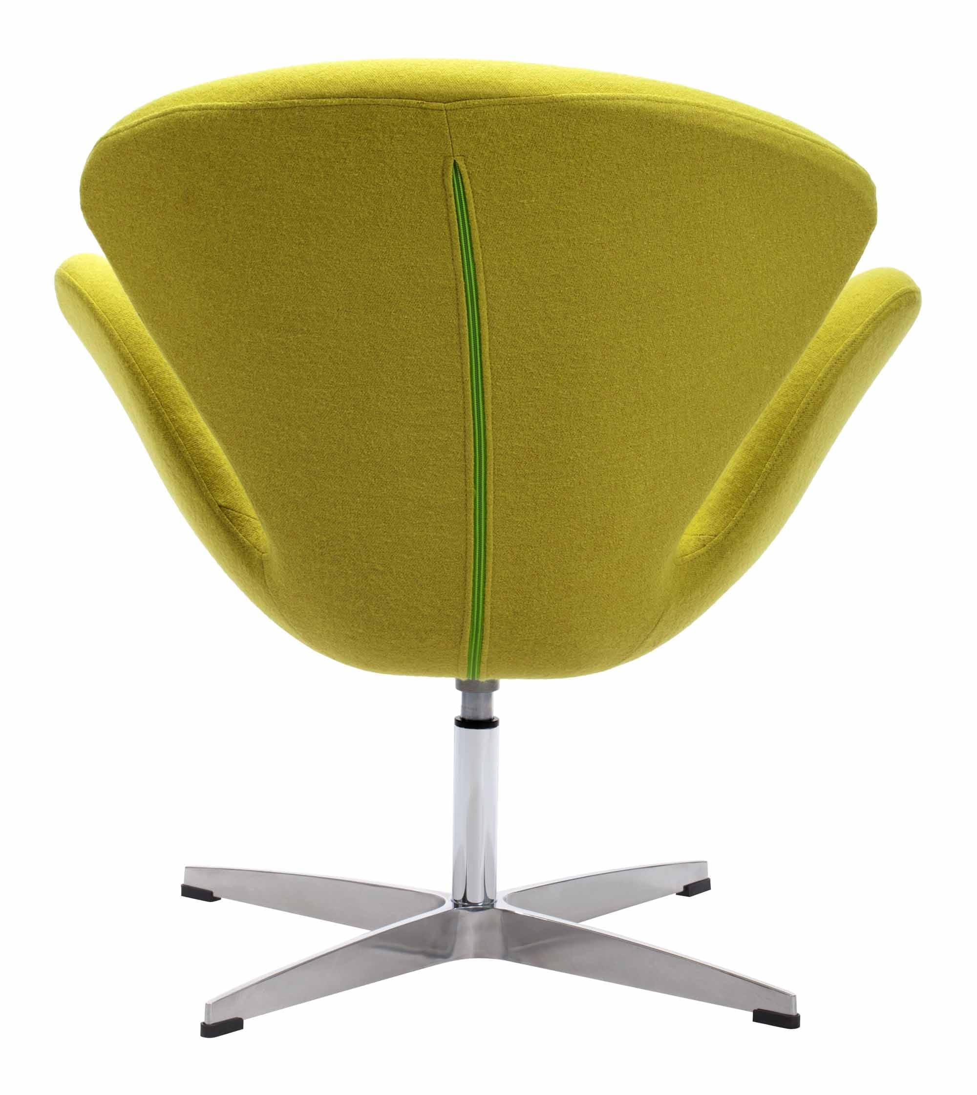 pori arm chair pistachio green by zuo modern -
