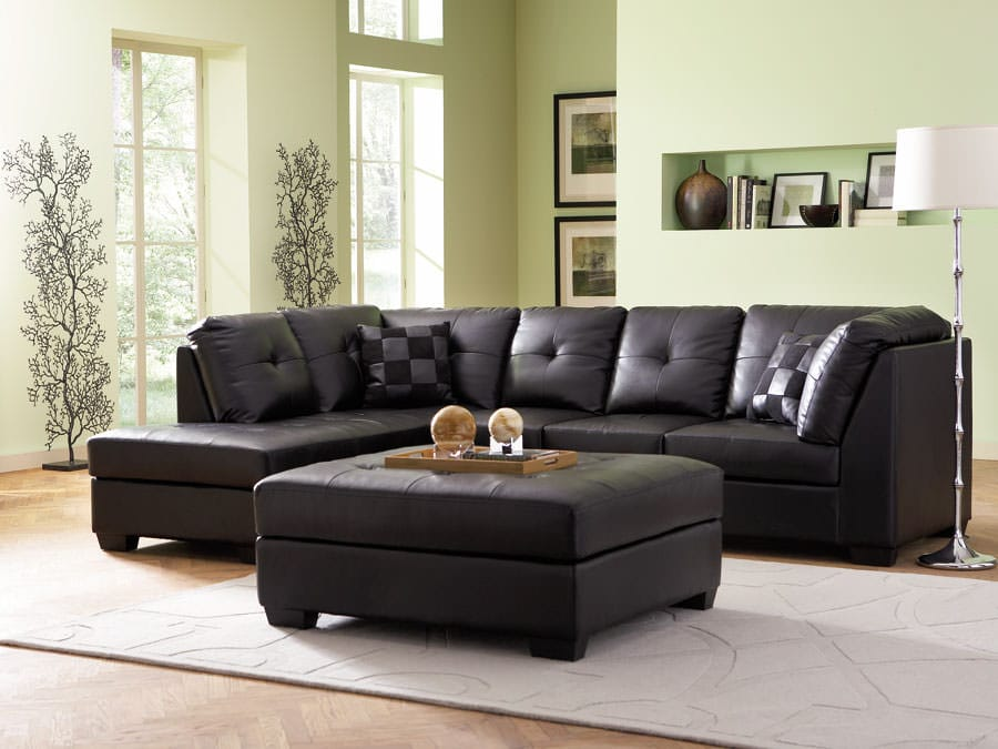 Miraculous 500606 Sectional Sofa Black By Coaster Uwap Interior Chair Design Uwaporg