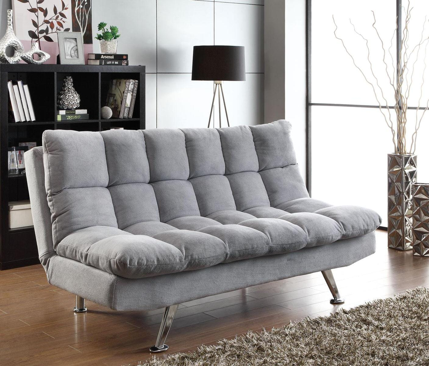 500775 sofa bed light gray by coaster for Sofa bed name