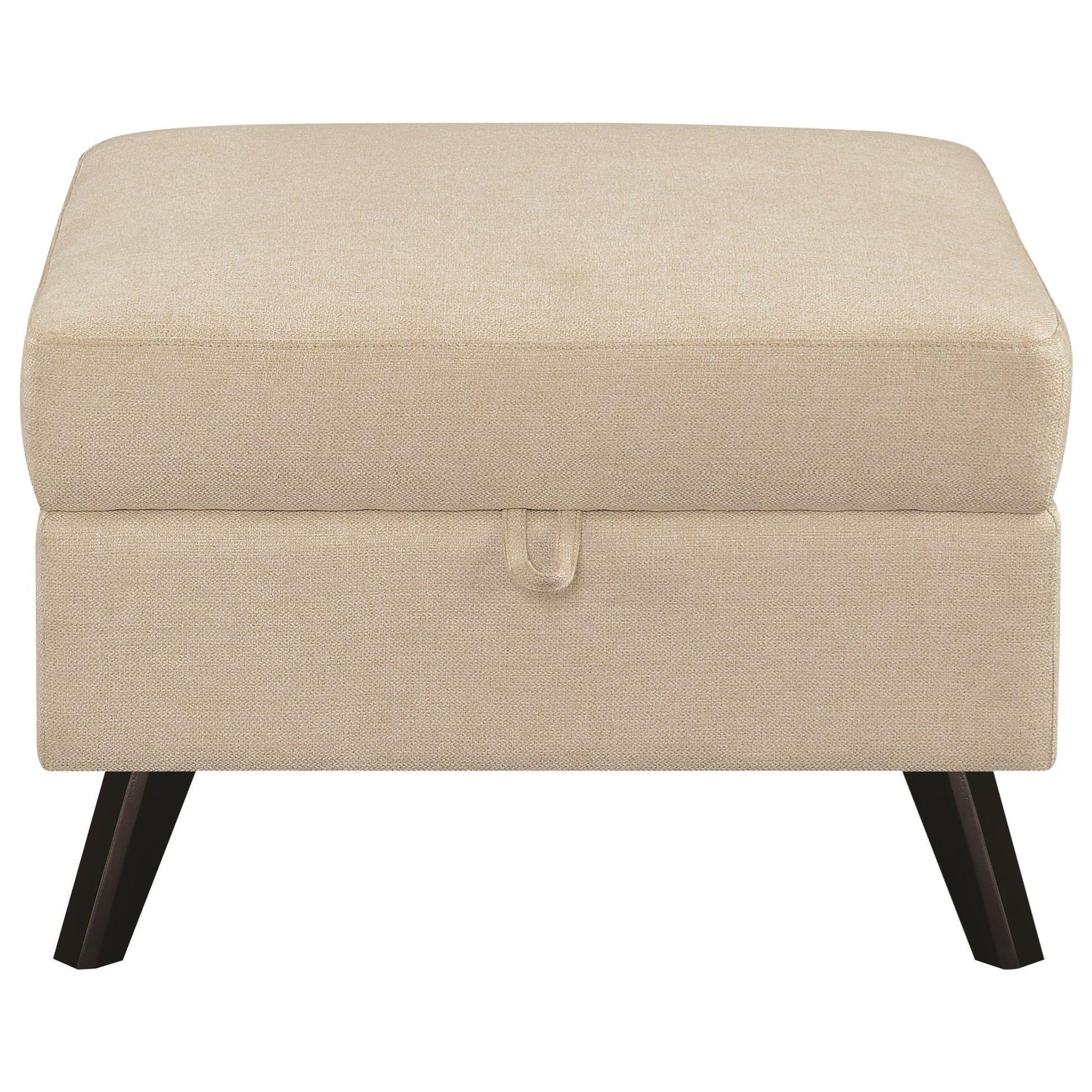 Surprising 506174 Montana Mid Century Linen Storage Ottoman By Scott Living Machost Co Dining Chair Design Ideas Machostcouk