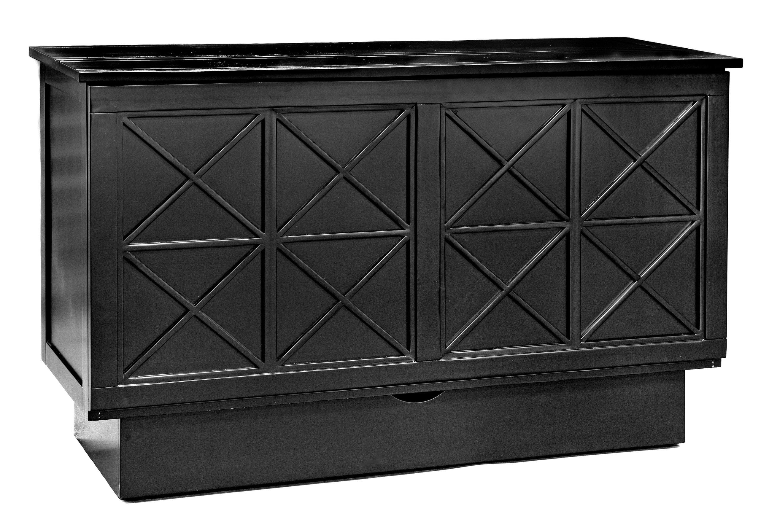 Essex Queen Murphy Cabinet Bed Black By Arason Furniture