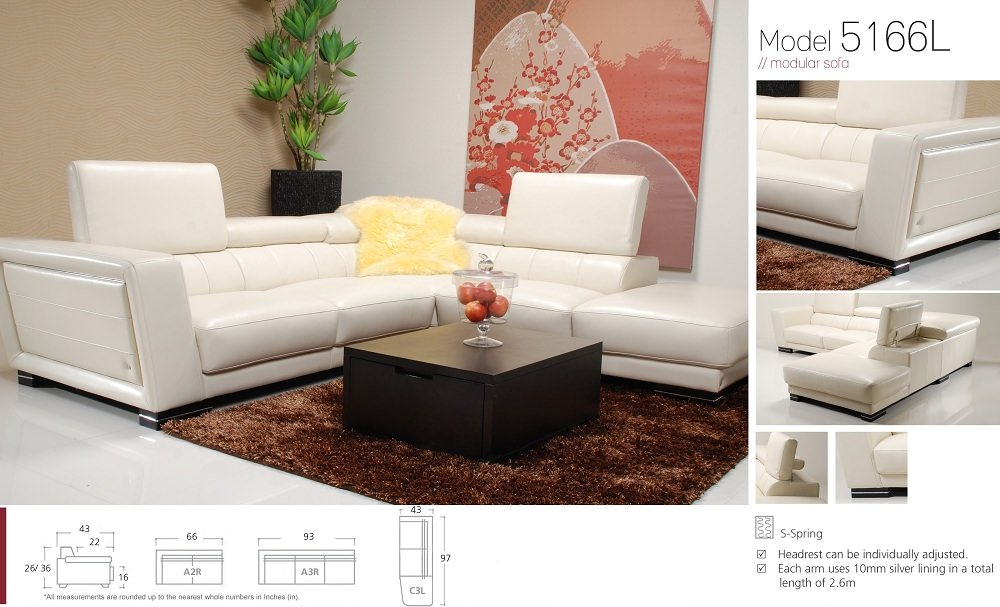 5166 premium italian leather sectional by j m furniture