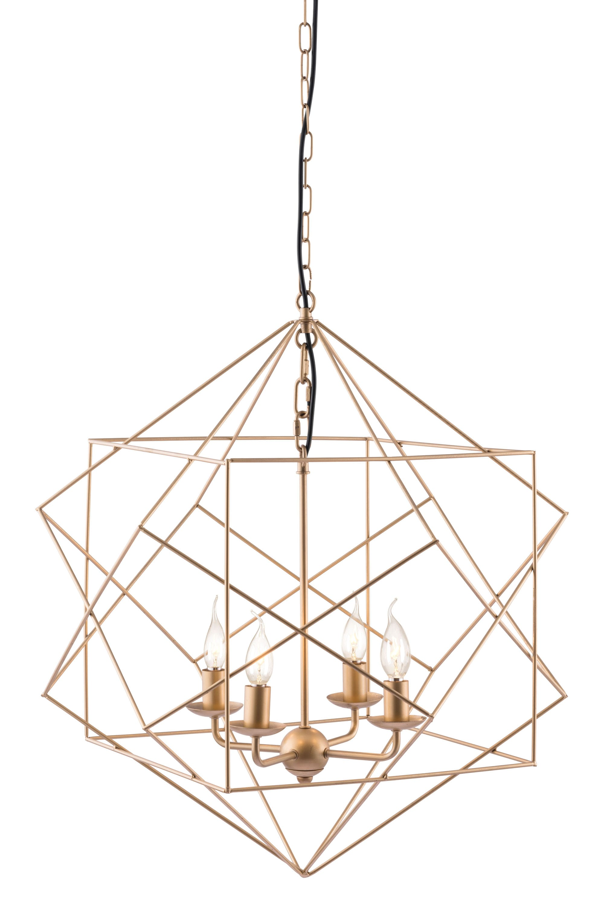 Penta Ceiling Lamp Gold By Zuo Modern